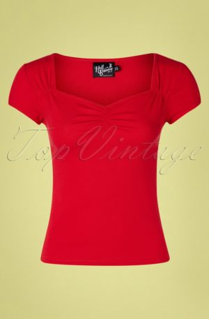 50s Mia Top in Red