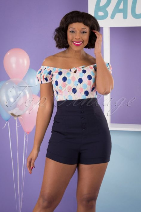50s Nomi Shorts in Navy
