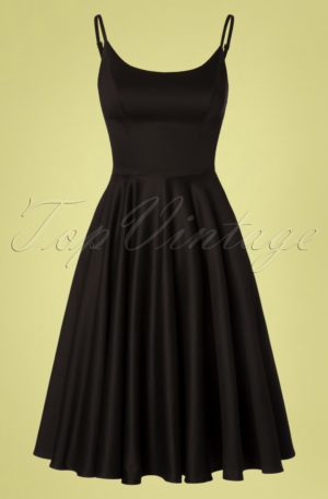 50s Peggy Swing Dress in Black