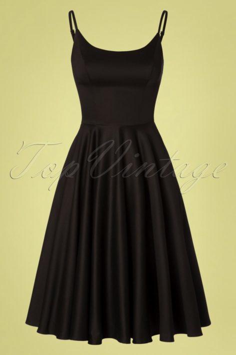 50s Peggy Swing Dress in Black