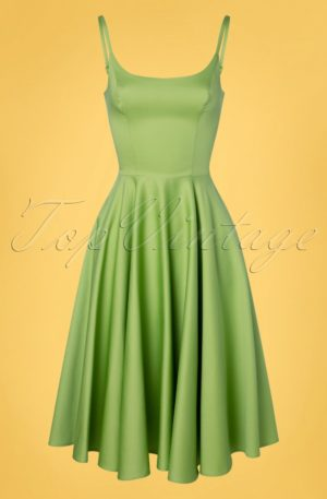 50s Peggy Swing Dress in Peridot Green