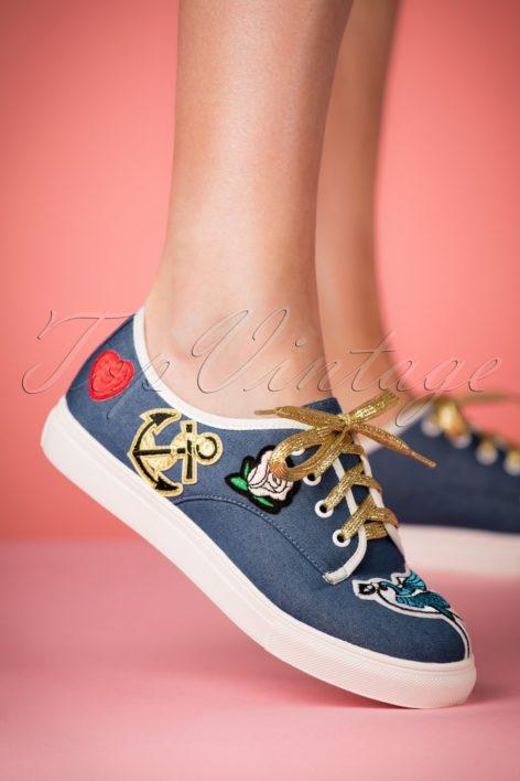 50s Portland Patch Sneakers in Blue