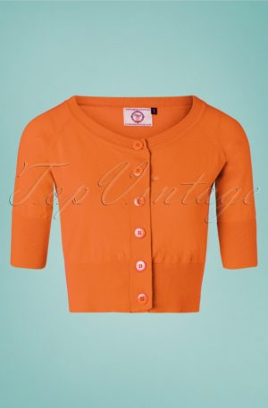 50s Raven Cardigan in Orange