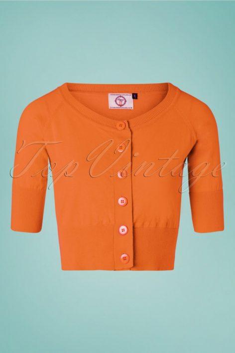50s Raven Cardigan in Orange