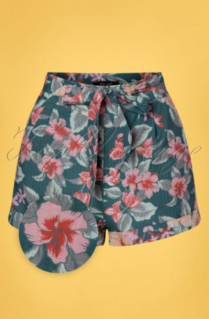50s Roisin St Kitt Shorts in Harbor Blue