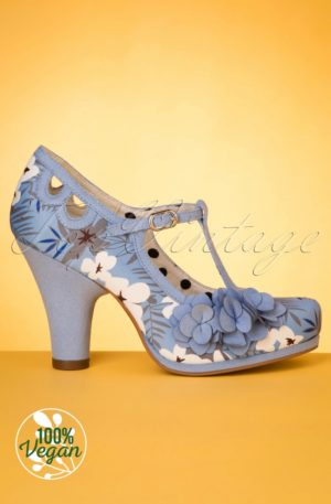 50s Valerie Pumps in Sky Blue