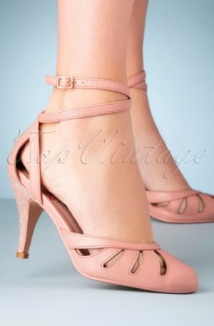 50s Vast Lagoon Pumps in Blush