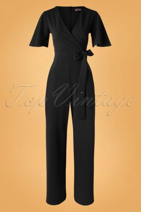 50s Vina Jumpsuit in Black