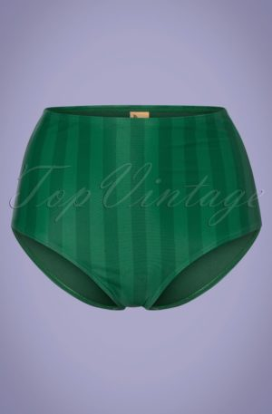 50s Watermelon High Waist Bikini Brief in Green