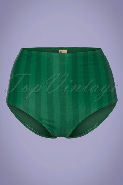 50s Watermelon High Waist Bikini Brief in Green