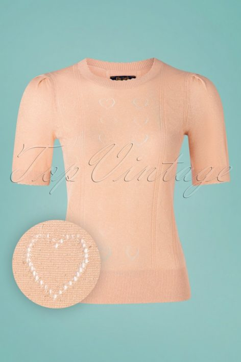 60s Agnes Decor Top in Pale Pink