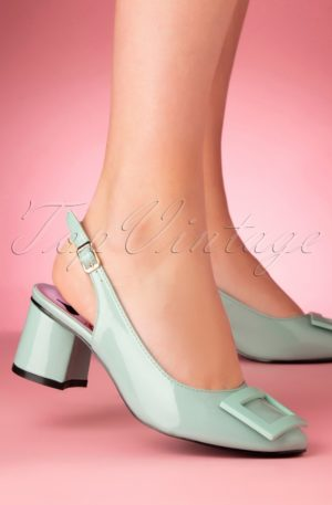 60s Arcadia Patent Pumps in Mint