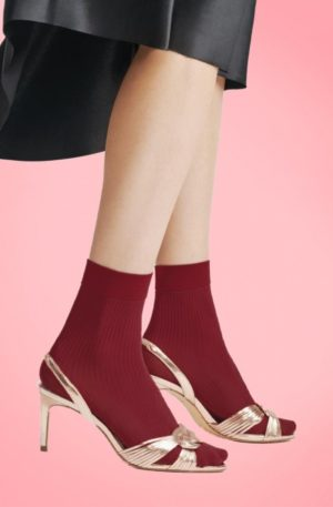 60s Atena Socks in Cherry Red