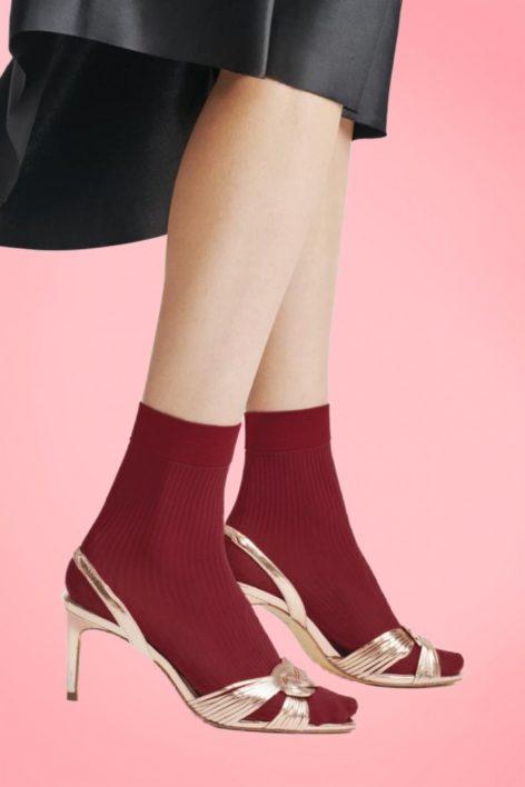 60s Atena Socks in Cherry Red