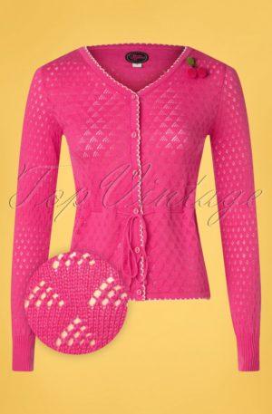 60s Summer Frutti Cardigan in Pink