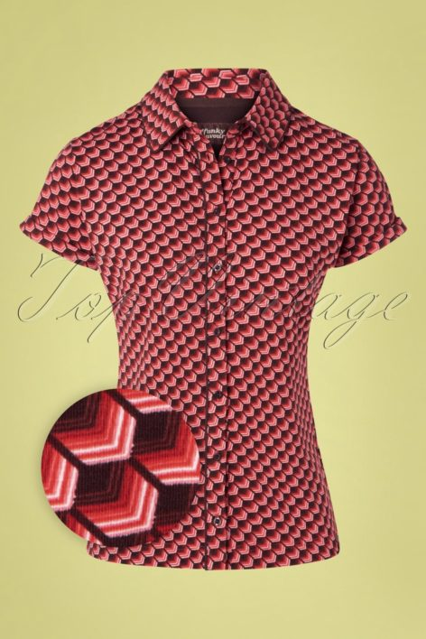 60s We Are One Blouse in Red