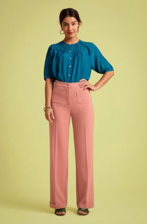 70s Garbo Tuillerie Pants in Dusty Rose