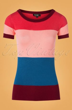 70s Sydney Striped Jumper in Pink