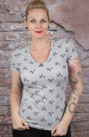 Blutsgeschwister Ladies Shirt Sunshine Camp, Carrie the Cherries von Rockabilly Rules