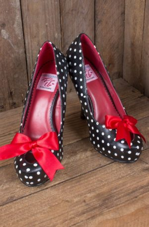 Pleaser Pin Up Couture Heel Rockabella Polkadot von Rockabilly Rules