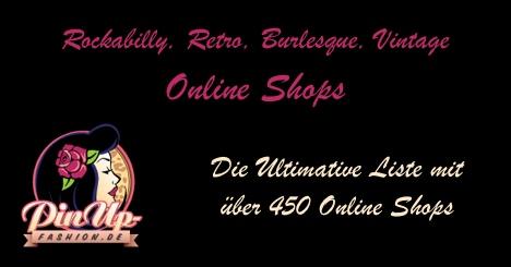 Die ultimative Liste der besten Online Shops für Rockabilly, Burlesque, Retro, Vintage und allem drumherum