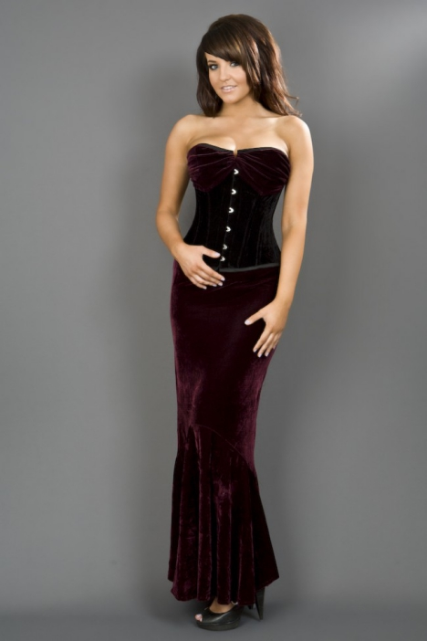 fishtail_skirt_-_burgundy_velvet