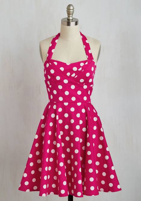 polkadot swingkleid