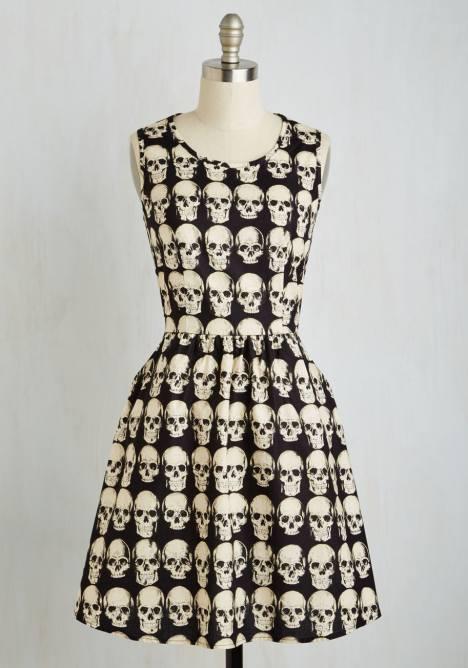 skull totenkopf kleid