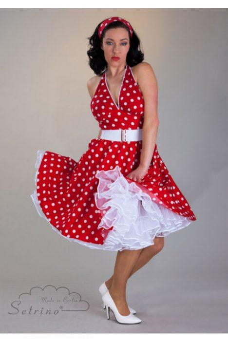 Punktekleid-Petticoatkleid