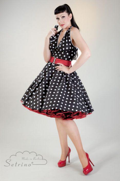 polkadot petticoat kleid