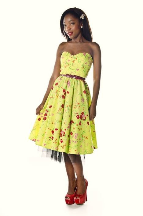 styleiconscloset 50s floral dress