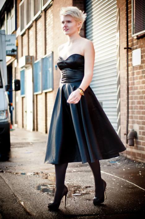 50s style silk dress