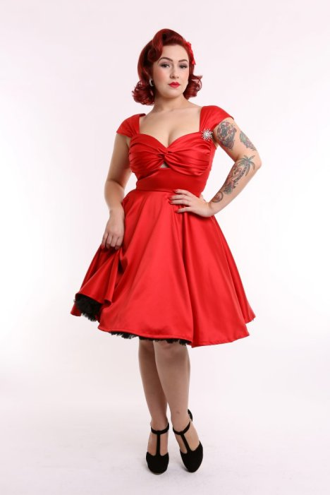 powderpuff boutique vlv swing full circle red skirt diamante petticoat pinup 50s vintage retro rockabilly frock dress flirtini starburst (4) (Custom)_resize