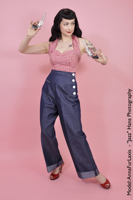 Rockabilly hosen pinup - Rockabilly outfit damen ...