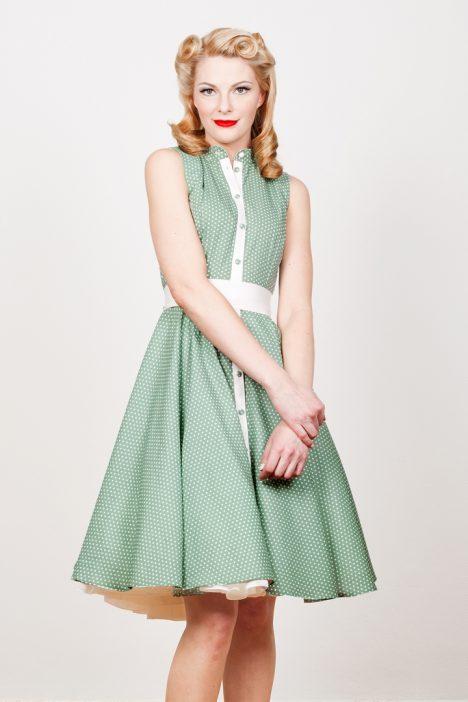 yvonne warmbier vintage kleid grün