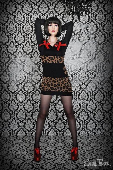 leopard kleid