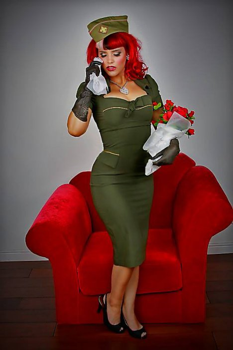 pin up army dress