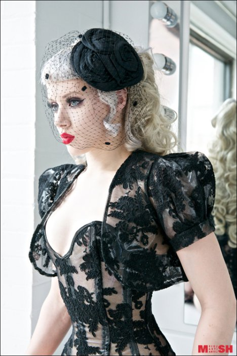 burlesque pvc korsett