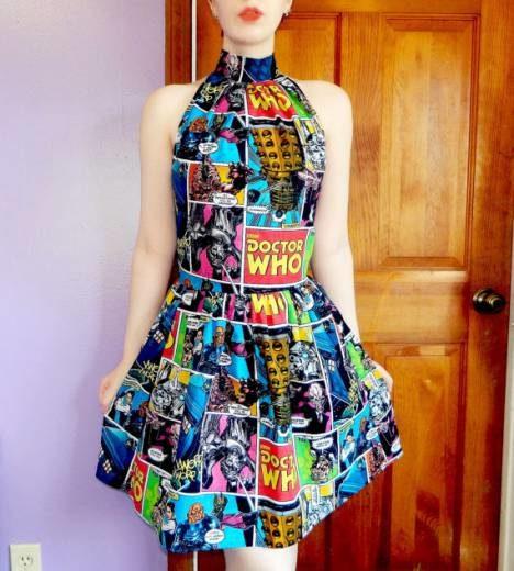 Vintage kleid comic