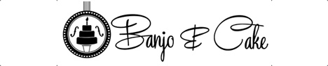 banjo and cake logo