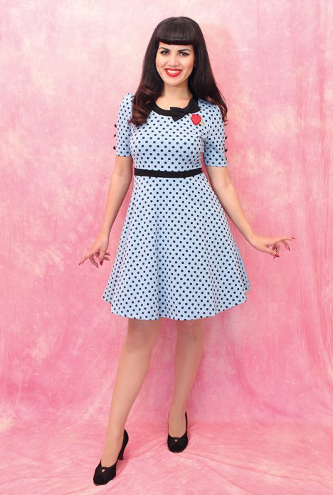 Polka-dot-dress-front