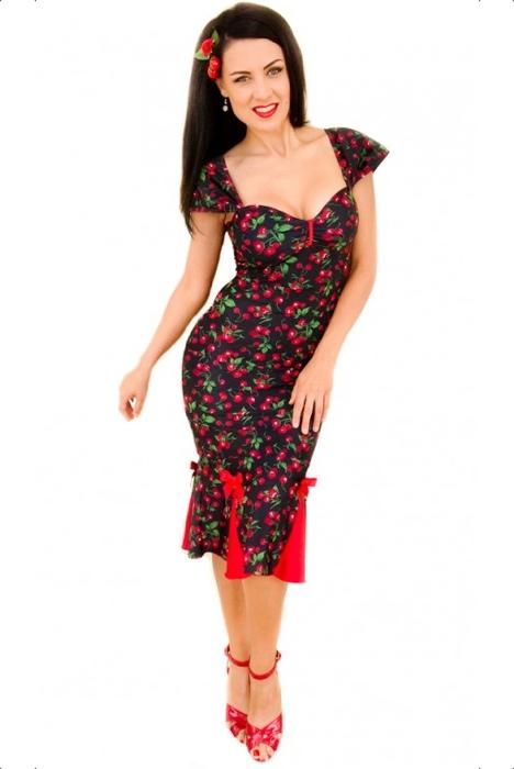 lolita-girl-clothing-pencil kleid mit kirschen