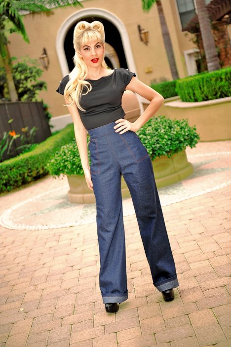 Kleidung 50er stil damen hosen