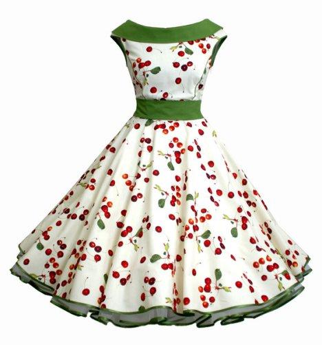 petticoatkleid -mit kirschen - charlott-atelier