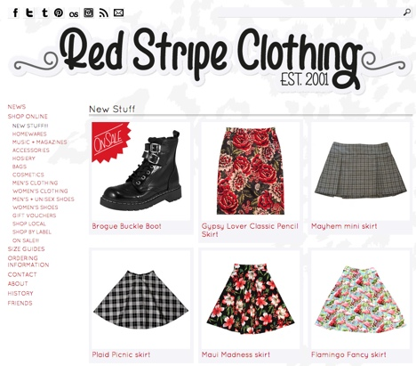 red stripe clothing