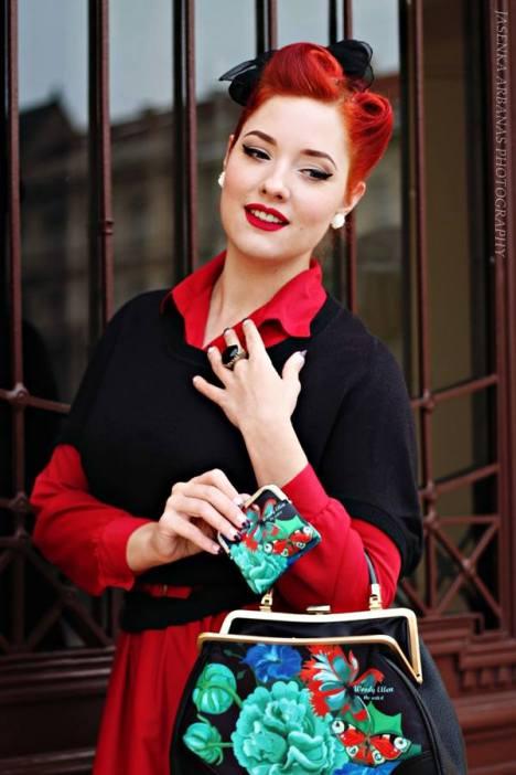 rockabilly handtasche